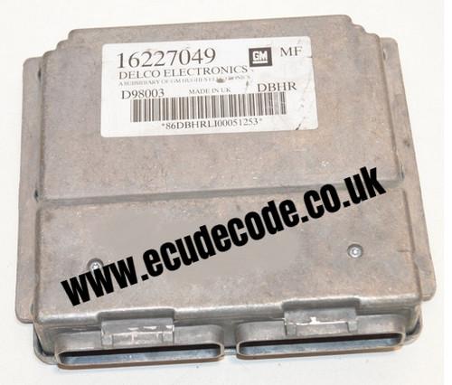 16227049 / D98003 / DBHR Vauxhall Petrol ECU Plug & Play
