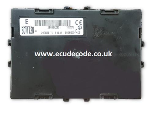 21676338-7A / B V5.03 / 284B2AX601/  BCML2N Nissan Micra UCH  Plug & Play ECU Decode