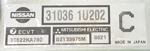 31036 1U202 ECVT 30522KA780 GT33975M 8821 C Transmission ECU