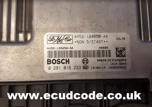 0281016233  0 281 016 233  AH52-12A650-AA ECU Cloning - Recovery Plug & Play