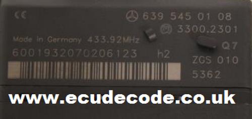 Mercedes V-Class, Viano, Vito Lost Keys