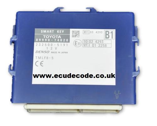 Service 89990-74020  232500-5192  B1 TMLF8-5 Smart Key Module Cloning - Matching - Key Production Plug & Play