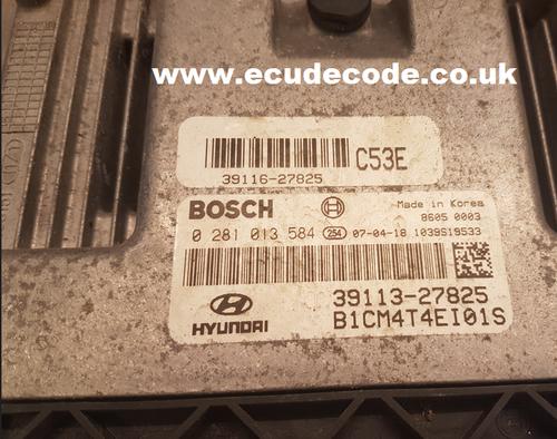 0281013584 - 0 281 013 584 - 39113-27825 - Hyundai Sante FE 2.2 CRDi  Clone / Free Run Plug & Play