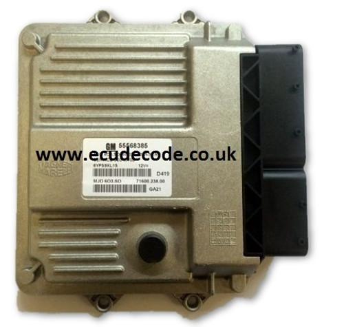 55573953QU, 55198930CN, 55198931CJ, 55568383KZ, 55568382KY, 55566039, 55568385 Vauxhall Corsa Combo 1.3 ECU (MJD 603.) Supplied Unlocked for programming or cloned from the original ECU.