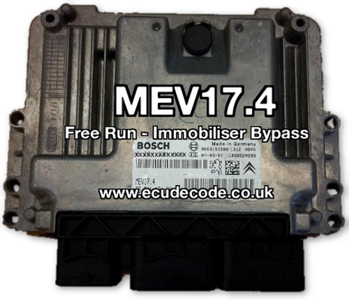 0 261 S05 190 / 0261S05190 / 9666382080 / 96 663 820 80 / MEV17.4 Citroen Peugeot Cloning - Immobiliser Bypass Services