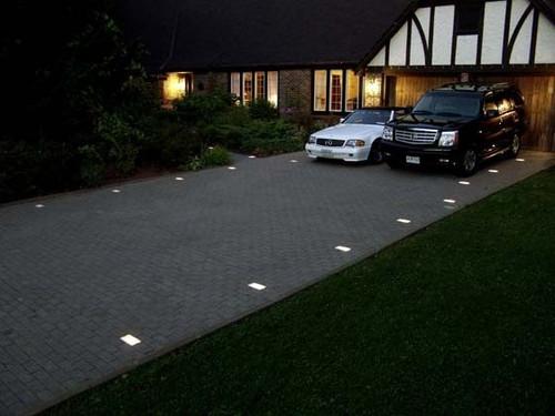 Brick Paver Lights Installed