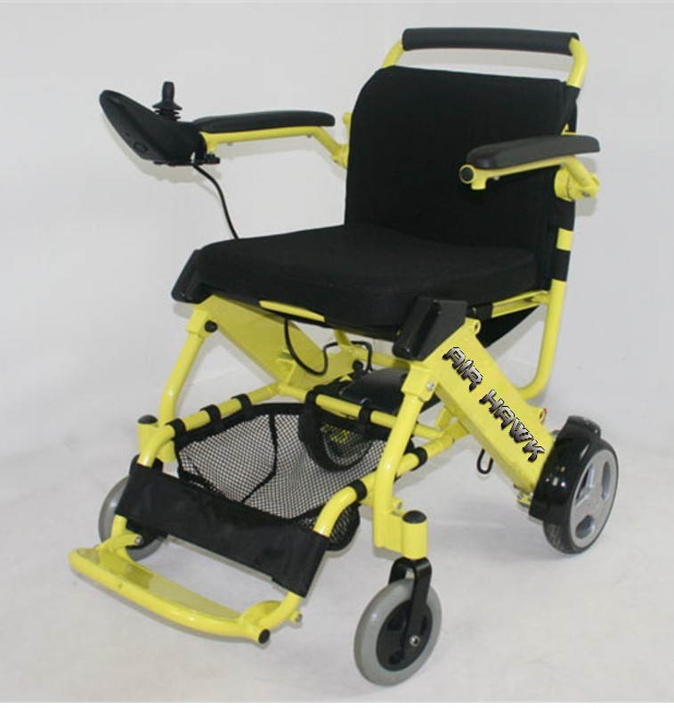 The Air Hawk lightweight folding power wheelchair, a must for traveling!