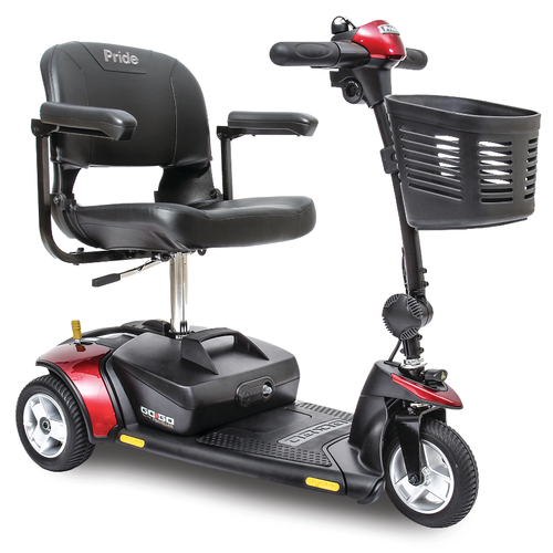 Go-Go Elite Traveller 3-Wheel Scooter in Red