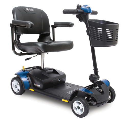 Go-Go Elite Traveller 4-Wheel Scooter in Blue