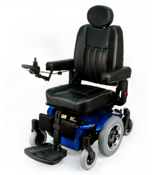 Quickie Pulse Electric Series Mid-Wheel Drive Power Wheelchair by Sunrise