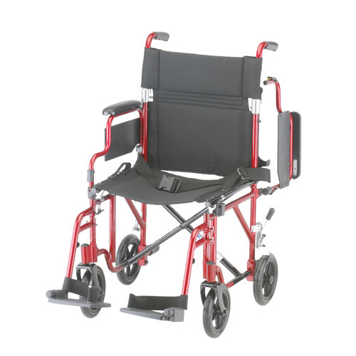 "Nova 349 Transport Chair 19"" with Detachable Arms"