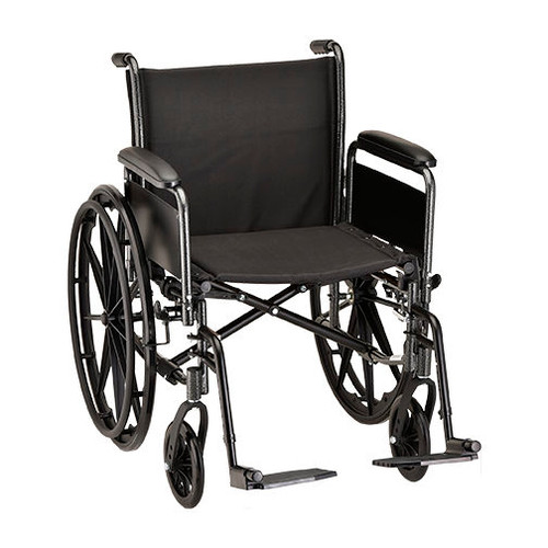 Nova 5201 20″ Steel Wheelchair Full Arms