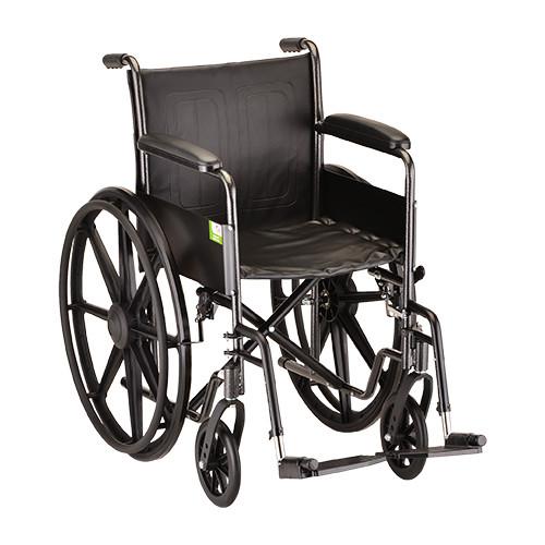 "Nova 5080 18"" Steel Wheelchair Fixed Arms"