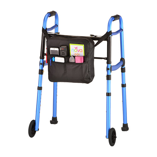 Nova Folding Walker with 5-inch Wheels, Skis & Bag