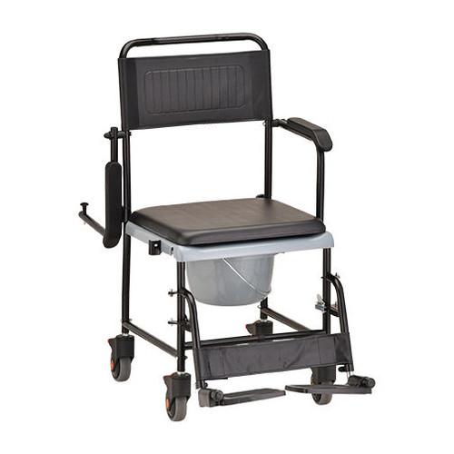 Nova Drop-Arm Commode Transport Chair 8805