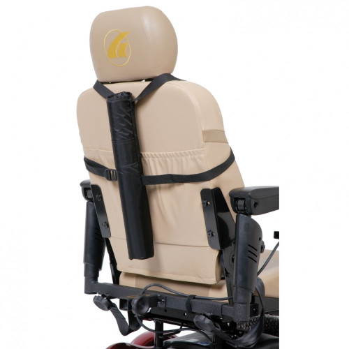 Golden Tube Cane Holder for Scooters or Power Wheelchairs