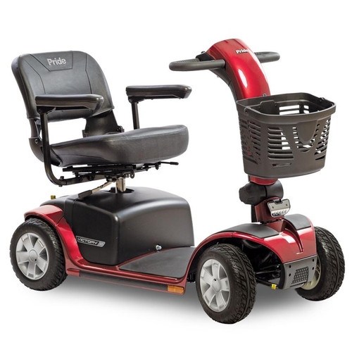 Victory 10 4-Wheel Scooter in Red