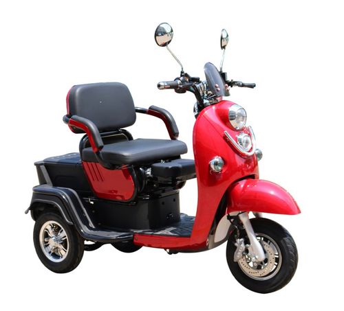Pushpak 1000 2-Passenger Electric Trike Red