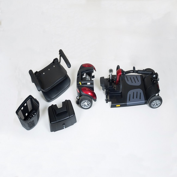 Buzzaround XLHD 4-Wheel Scooter Disassembled