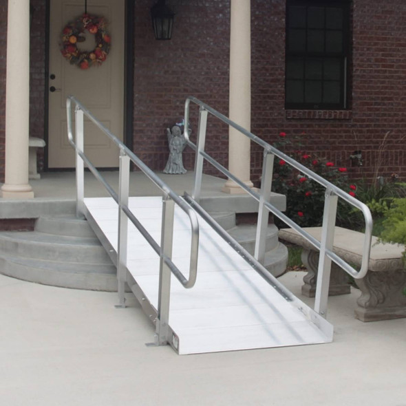 PVI OnTrac Solid Surface Ramp with Handrails