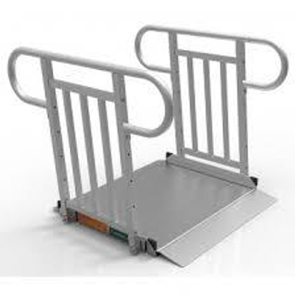 EZ Access Gateway 3G Solid Surface Portable Ramp Vertical Picket Handrail