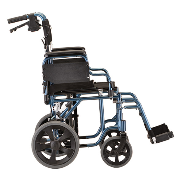 "Nova 352 Transport Chair 19"" with Hand Brakes"
