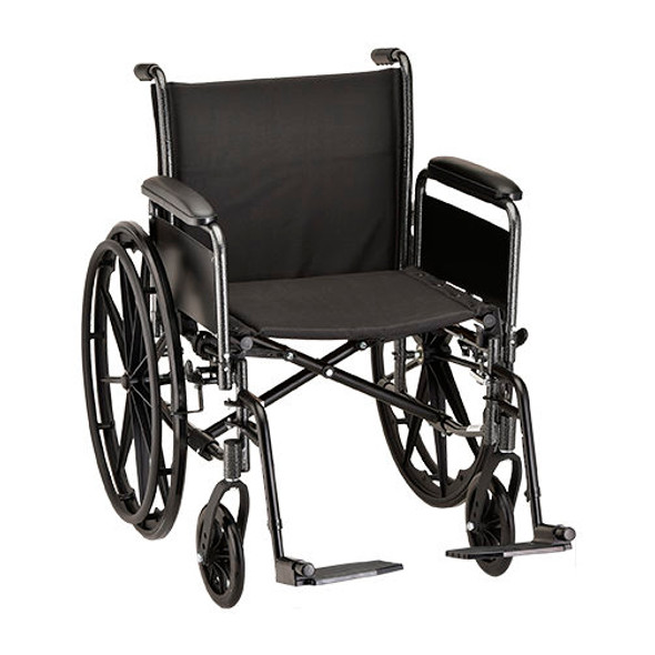 Nova 5201 20″ Steel Wheelchair Full Arms