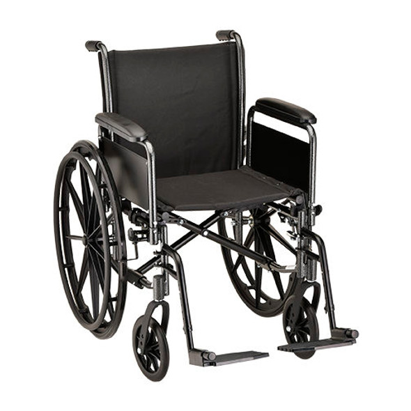 "Nova 5181 18"" Steel Wheelchair Detachable Full Arm"