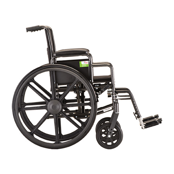 Nova 5160 16-inch Steel Wheelchair Detachable Arms
