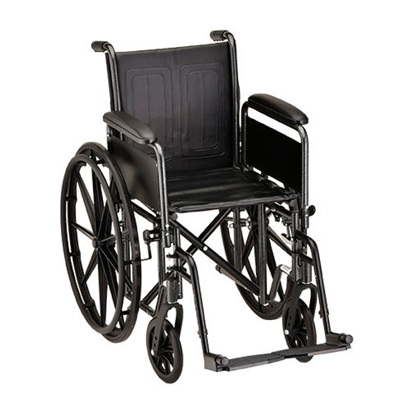 Nova 5166 16″ Steel Wheelchair Detachable Arms