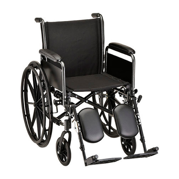 Nova 5161 16-inch Steel Wheelchair Detachable Arms