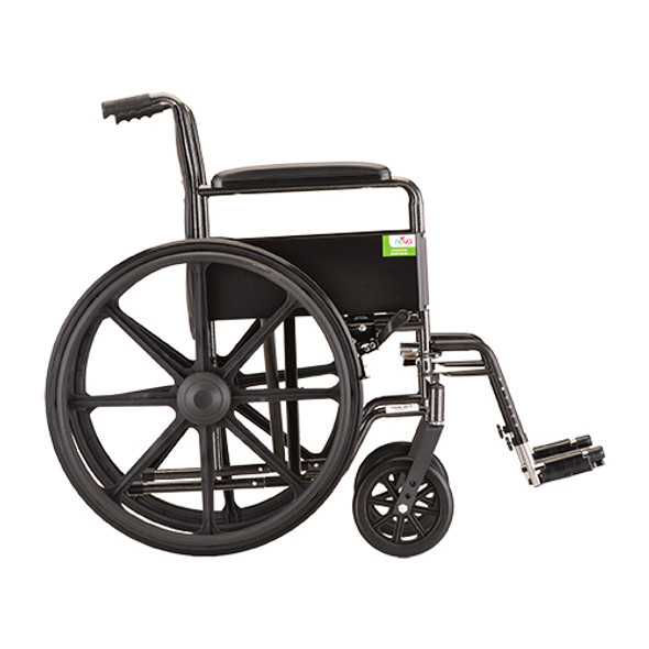 "Nova 5080 18"" Steel Wheelchair Fixed Arms"