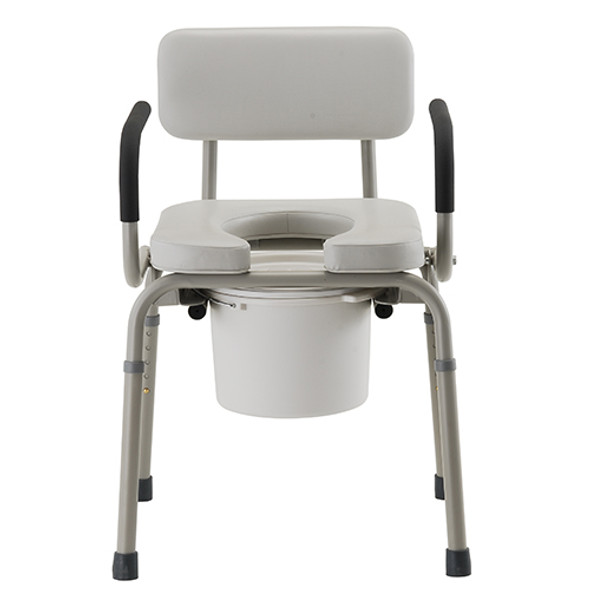 Nova Padded Drop-Arm Commode Gray 8901W