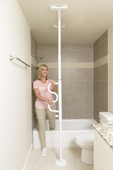 Stander Security Pole with Curved Grab Bar 1100