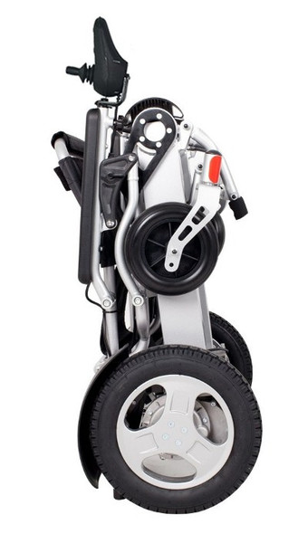 Electra 7 HD Wide Folding Power Wheelchair Folded