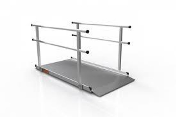 EZ Access Gateway 3G Solid Surface Portable Ramp with Two-Line Handrails