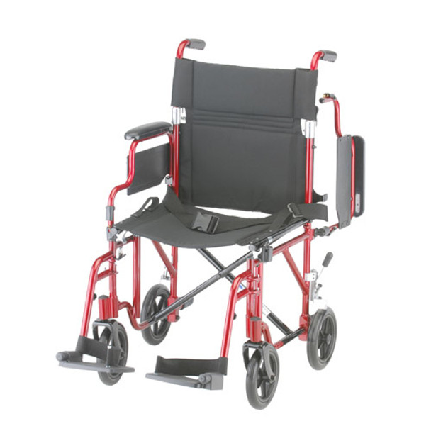 """Nova 349 Transport Chair 19"""" with Detachable Arms"""