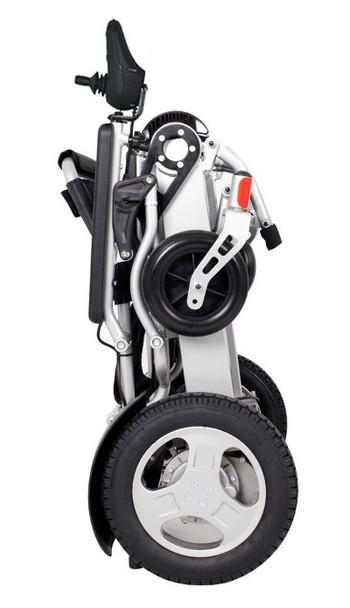 Electra 7 HD Wide Folding Power Wheelchair Folded