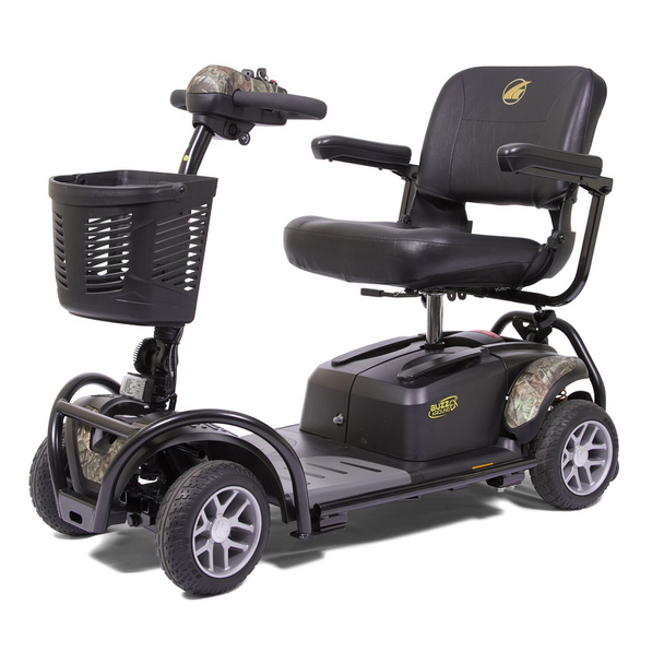 Buzzaround EX 4-Wheel Scooter with bumpers in Camo