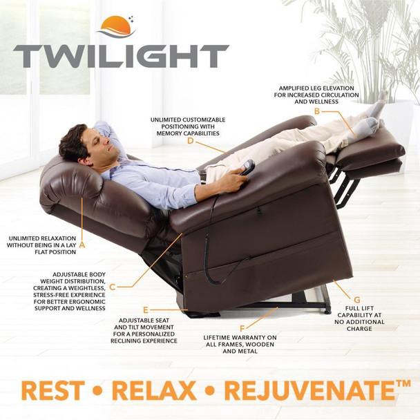 Twilight Lift Chair  - Rest - Relax - Rejuvinate