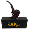 "5.25"" Engraved Brandy Rosewood Shire Pipe"