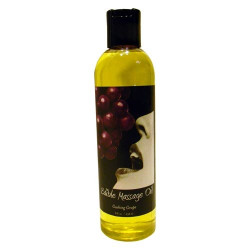 Earthly Body Gushing Grape Edible Massage Oil - 8 oz.