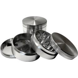 """SharpStone 3"""" 4-Piece Grinder/Pollinator - Silver"""