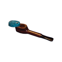 Mill G-1 Wooden Pipe with Square head and Swivel Top