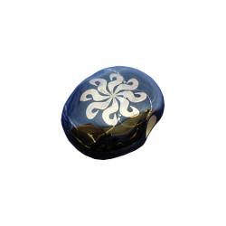 Porcelain Gold Smoke Stone