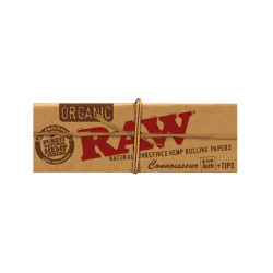 Raw Organic Unbleached Connoisseur 1 1/4 with Tips