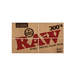 Raw Classic Unbleached 300s 1 1/4 Papers 40