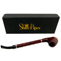 "10.5"" Bent Brandy w/ Long Spiral Shanks Rosewood Shire Pipe"