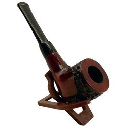 "5.5"" Engraved Billiard Rosewood Shire Pipe"