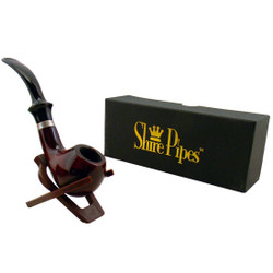 "5.25"" Tomato Rosewood Shire Pipe"